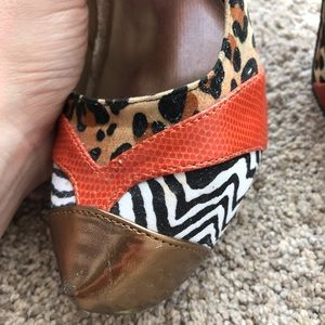 JustFab Shoes - Unique Leopard and Zebra Pumps